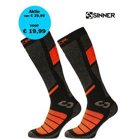 SINNER SKISOKKEN PRO II-Pack Black/Orange