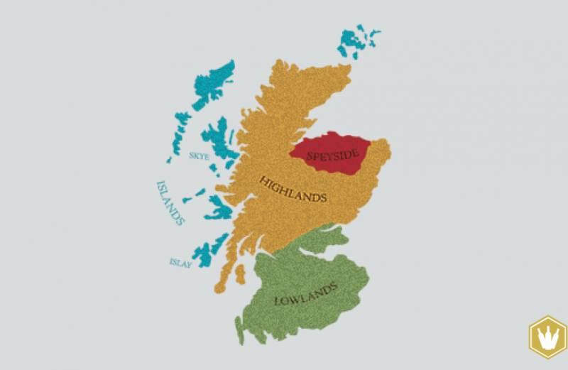 Vier whisky regios Schotland
