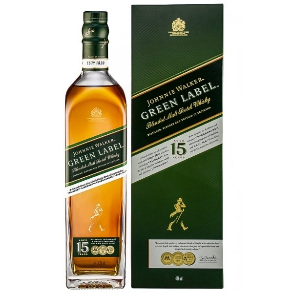 Johnnie Walker Green Label 15 Years in Giftbox