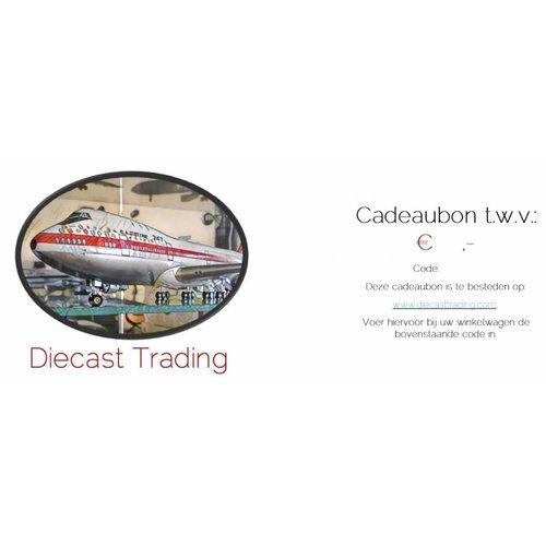 Diecast Trading Cadeaubon t.w.v. € 100,-