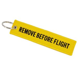 Diecast Trading Remove Before Flight Tag Yellow