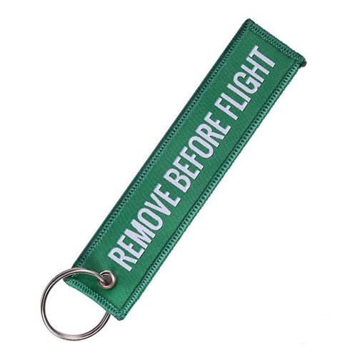 Remove Before Flight Tag Groen