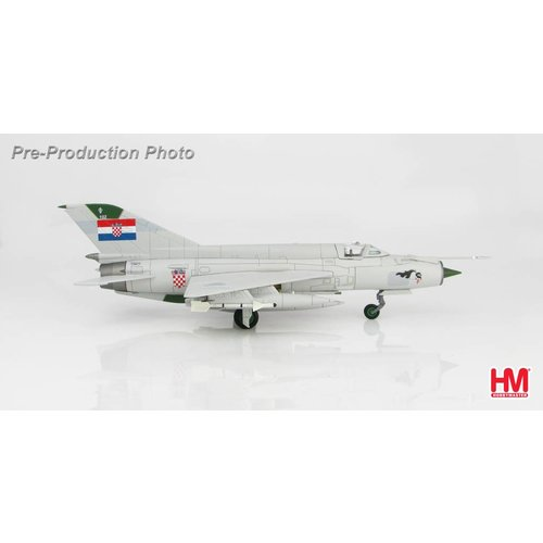 "Hobby Master 1:72  MIG21 BIS 1st Fighter Squadron ""Avenger of Dubrovnik"" Croatian Air Force, 1993"