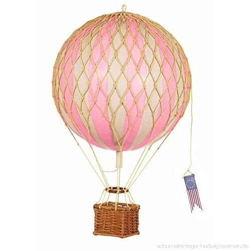 """Authentic Models Hot Air Balloon """"Travels Light, Pink"""""""