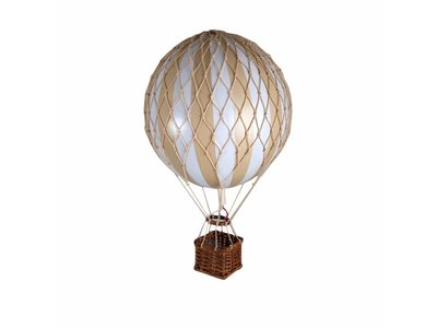 """Authentic Models Hot Air Balloon """"Travels Light, White/Ivory"""""""