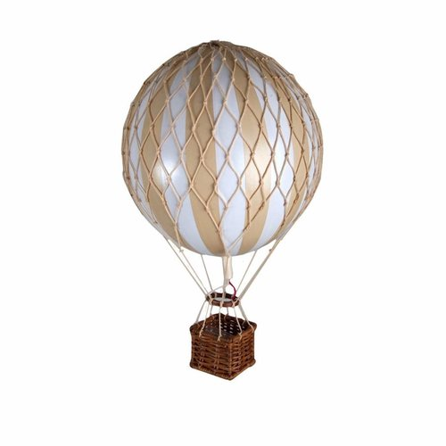 "Authentic Models Hot Air Balloon ""Travels Light, White/Ivory"""
