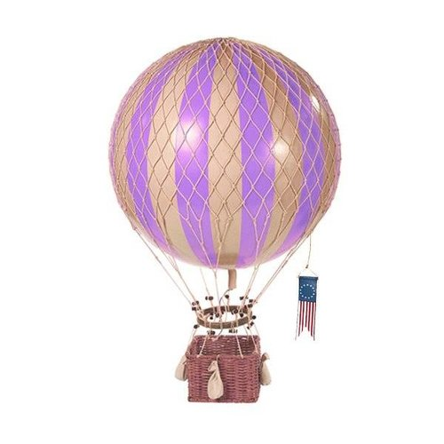 "Authentic Models Hot Air Balloon ""Travels Light, Lavender"""