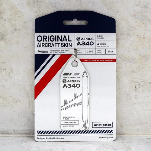Aviationtag Aviationtag - Airbus A340 – F-GLZI (white)