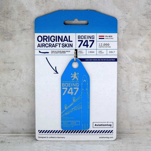 Aviationtag Aviationtag - Boeing 747 – PH-BFR (KLM blue)