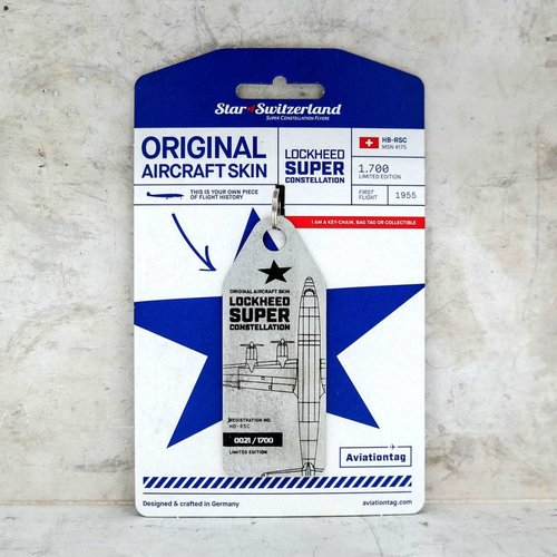Aviationtag Aviationtag - Lockheed Super Constellation L-1049 – HB-RSC