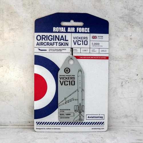 Aviationtag Aviationtag - Royal Air Force Vickers VC10 – XV-106 (grey)