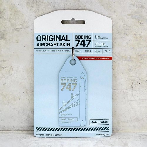 Aviationtag Aviationtag - Boeing 747 – B-HUI (lightblue)