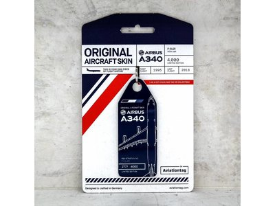 Aviationtag Aviationtag - Airbus A340 – F-GLZI (blue)