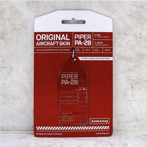 Aviationtag Aviationtag - Piper PA28 – D-EBRI (red)