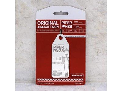 Aviationtag Aviationtag - Piper PA28 – D-EBRI (white)