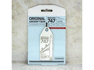 Aviationtag Aviationtag - Boeing 747 – B-HUI (white)