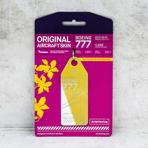 Aviationtag Aviationtag - Boeing 777-200 – HS-TJF (gold - white)