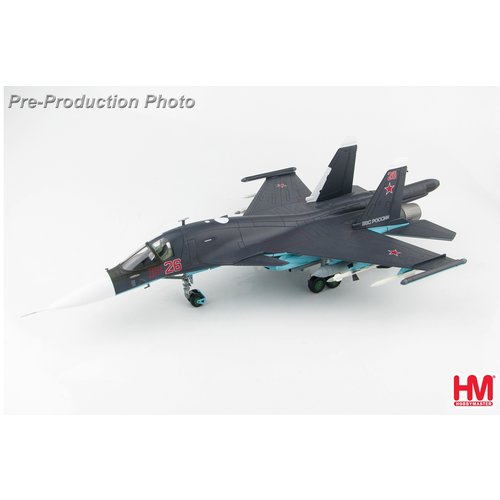 Hobby Master 1:72 Sukhoi Su-34 Fullback Fighter Bomber Red 26, Russian Air Force, Syria, 2015