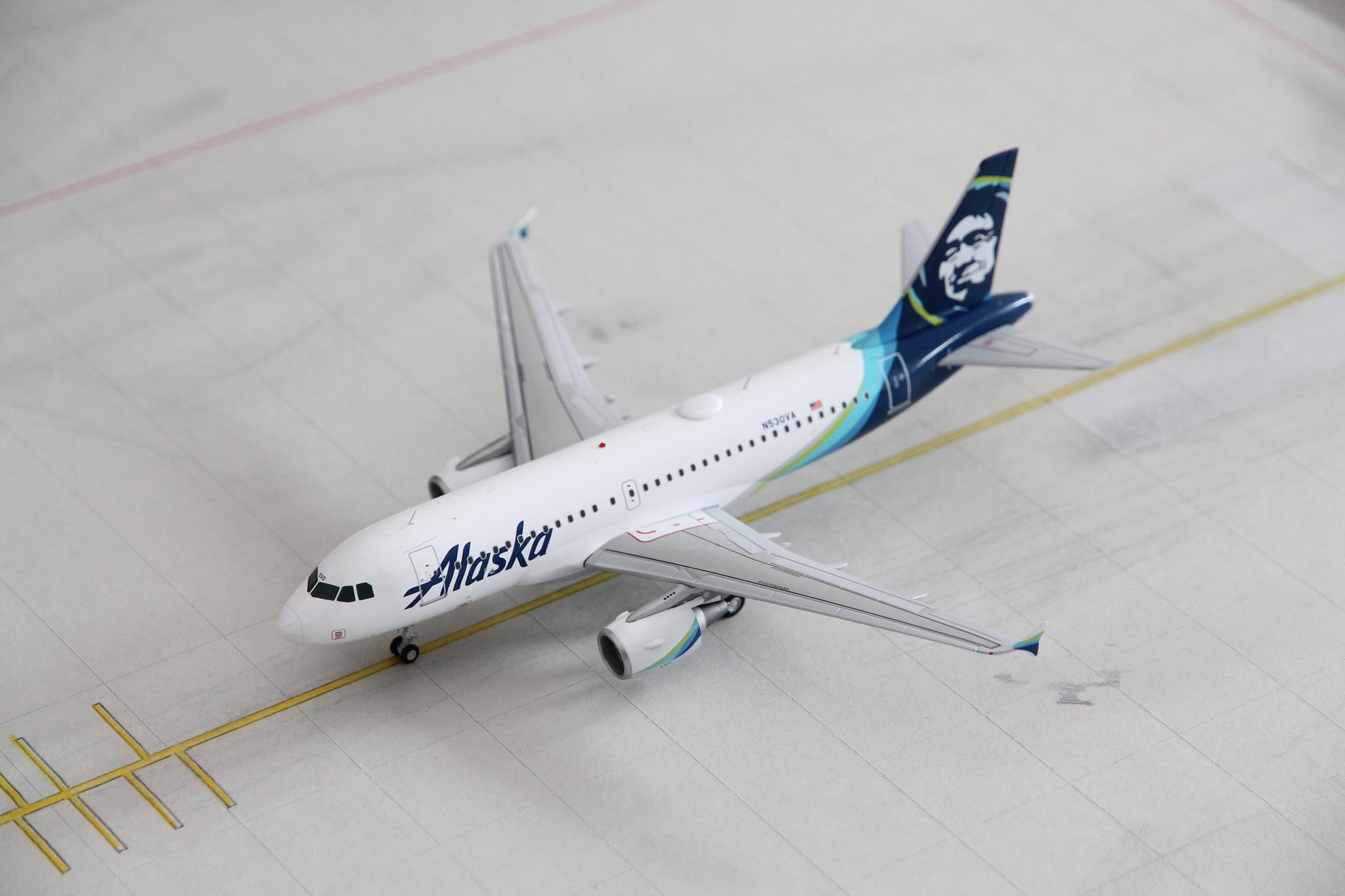 1:200 Alaska Airlines Airbus A319 N530VA Gemini200 G2ASA830