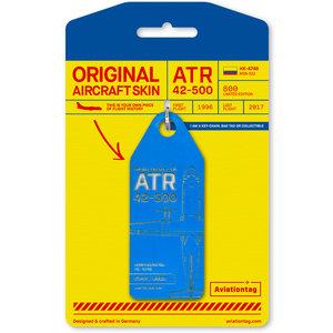 Aviationtag Aviationtag - ATR 42 - HK-4748 (blue)