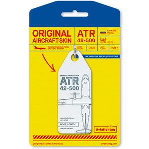 Aviationtag Aviationtag - ATR 42 - HK-4748 (white)
