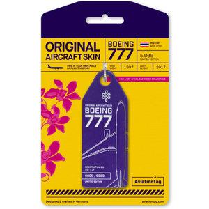 Aviationtag Aviationtag - Boeing 777-200 - HS-TJF (purple)