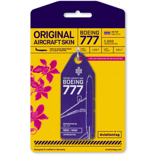 Aviationtag Aviationtag - Boeing 777-200 – HS-TJF (purple)