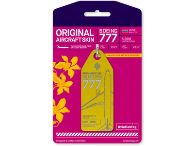 Aviationtag Aviationtag - Boeing 777-200 – HS-TJF (gold)