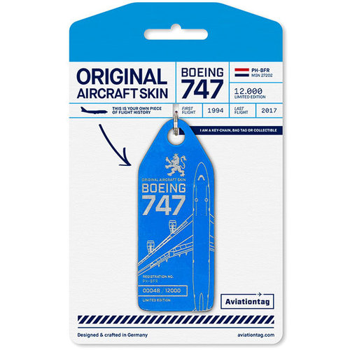 Aviationtag Aviationtag - Boeing 747 - PH-BFR (KLM blue)