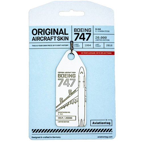 Aviationtag Aviationtag - Boeing 747 - B-HUI (white)