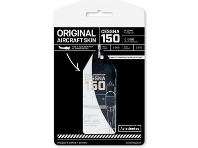 Aviationtag Aviationtag - Cessna 150 - D-EOMO (white - black)