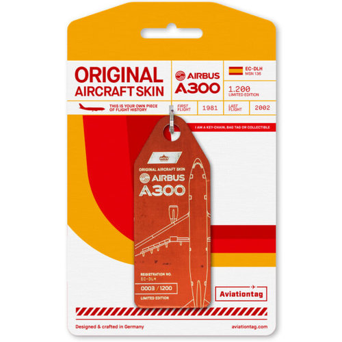 Aviationtag Aviationtag - Airbus A300 - EC-DLH (light red)