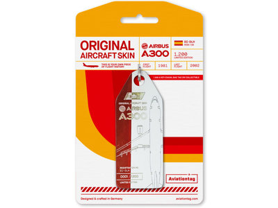 Aviationtag Aviationtag - Airbus A300 - EC-DLH (red - white)