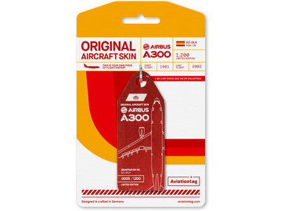 Aviationtag Aviationtag - Airbus A300 - EC-DLH (red)