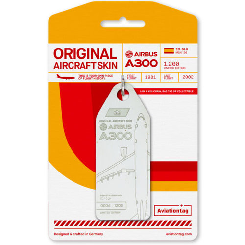 Aviationtag Aviationtag - Airbus A300 - EC-DLH (white)