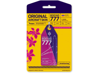 Aviationtag Aviationtag - Boeing 777-200 - HS-TJF (purple - pink)