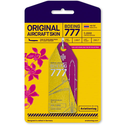 Aviationtag Aviationtag - Boeing 777-200 - HS-TJF (gold - pink)