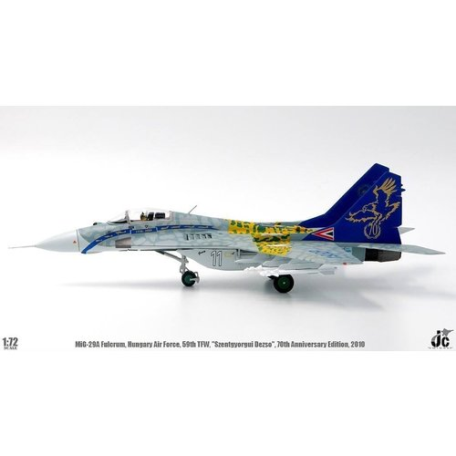 "JC Wings 1:72 Mig 29A Fulcrum (Hungary Air Force, 59th Tactical Fighter Wing, ""Szentgyorgui Dezso"", 70th Anniversary Edition, 2010)"