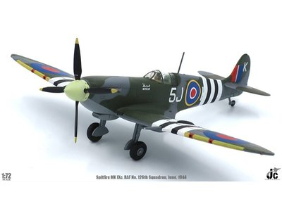 JC Wings 1:72 Spitfire MK IXc (RAF No.126th Squadron, LDR Johnny Plagis, June, 1944)
