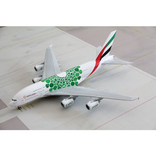 """Gemini Jets 1:200 Emirates """"Green EXPO 2020"""" A380"""
