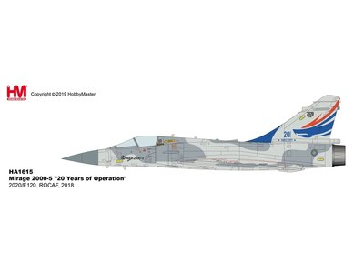 """Hobby Master 1:72 Mirage 2000-5 """"20 Years of Operation"""" 2020/E120, ROCAF, 2018"""