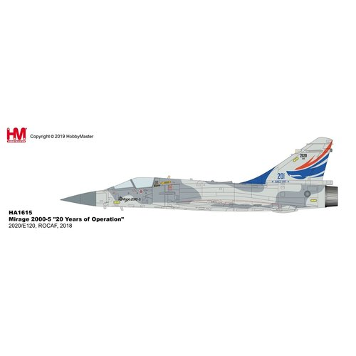 "Hobby Master 1:72 Mirage 2000-5 ""20 Years of Operation"" 2020/E120, ROCAF, 2018"