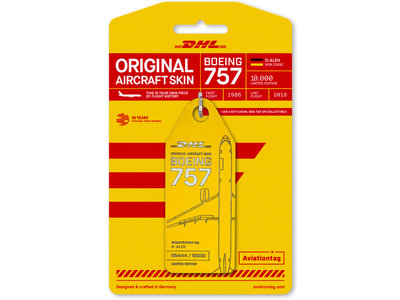 Aviationtag Aviationtag - Boeing 757 – D-ALEH - DHL (yellow)
