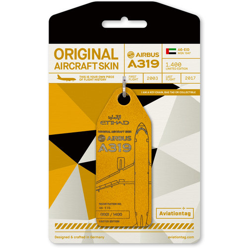Aviationtag Aviationtag - Airbus A319 – A6-EID - Etihad Airways (gold)