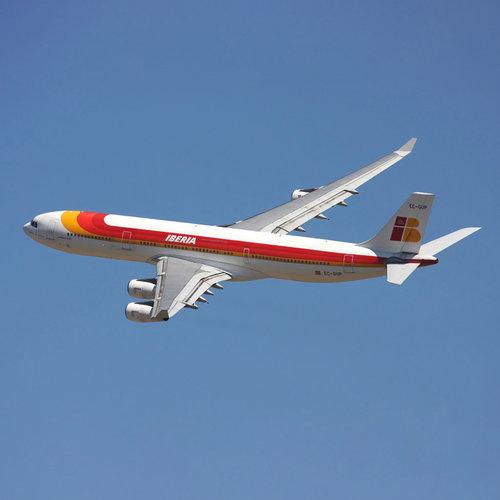 Aviationtag Aviationtag - Airbus A340 - EC-GUP - Iberia (light red)