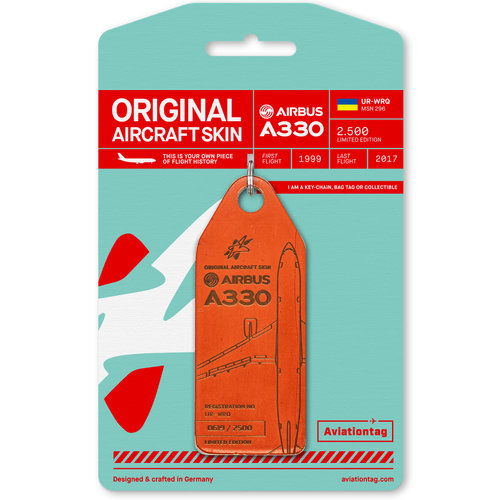 Aviationtag Aviationtag - Airbus A330 - UR-WRQ - Windrose  (red)