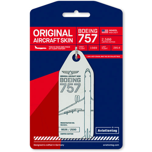 Aviationtag Aviationtag - Boeing 757 – N646DL - Delta Air Lines (white)