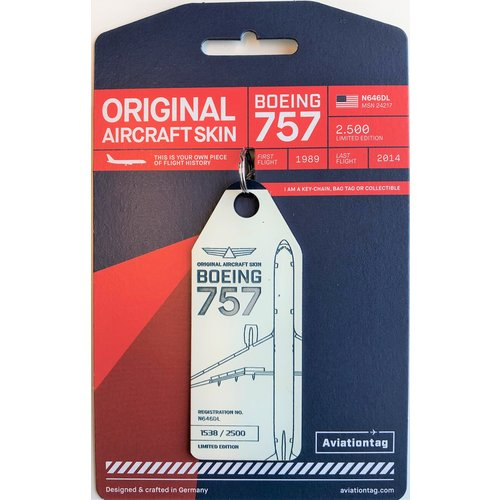 Aviationtag Aviationtag - Boeing 757 – N646DL - Delta Air Lines (white - touch of blue)