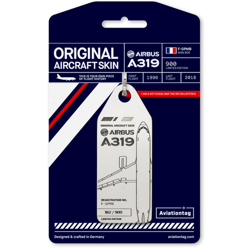 Aviationtag Aviationtag - Airbus A319 – F-GPMB - Air France (white)