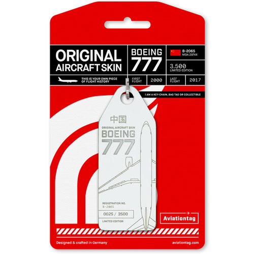 Aviationtag Aviationtag - Boeing 777 – B-2065 - Air China (white)